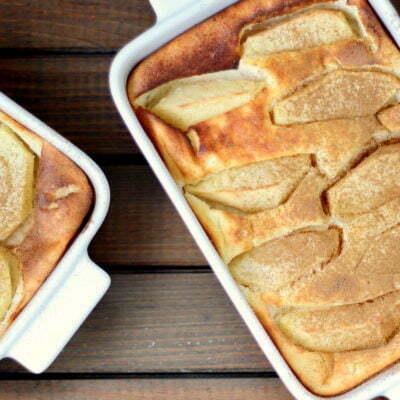 zapiekanka serowa z jabłkami